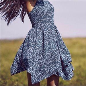 Abercrombie Pattern Asymmetrical Dress